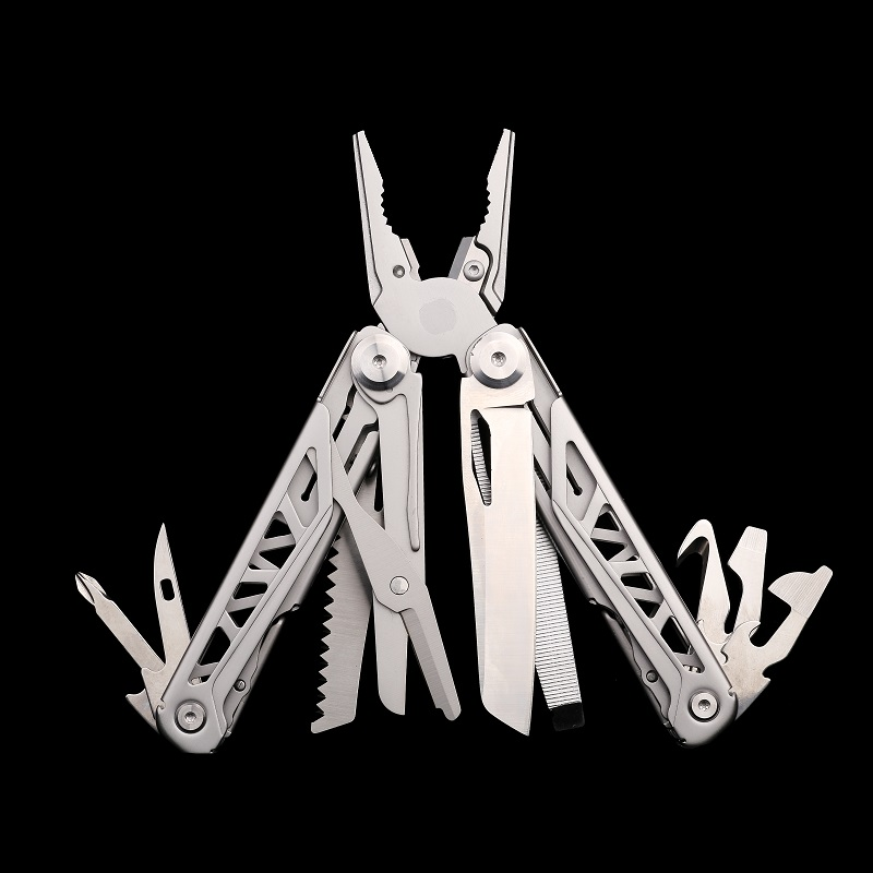 Splitman Multi Tool Folding Knife Plier Multitools Survival Knives Camping Fishing Folding Pliers EDC Gear 440A Stainless Steel