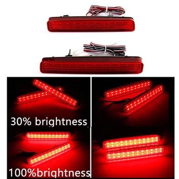 цена на 2PCS LED Rear Bumper Reflector Tail Brake Light For TOYOTA NOAH VOXY 80 For Pruis 40 Series 2011 2012 2013 2014 2015 Stop Lamp