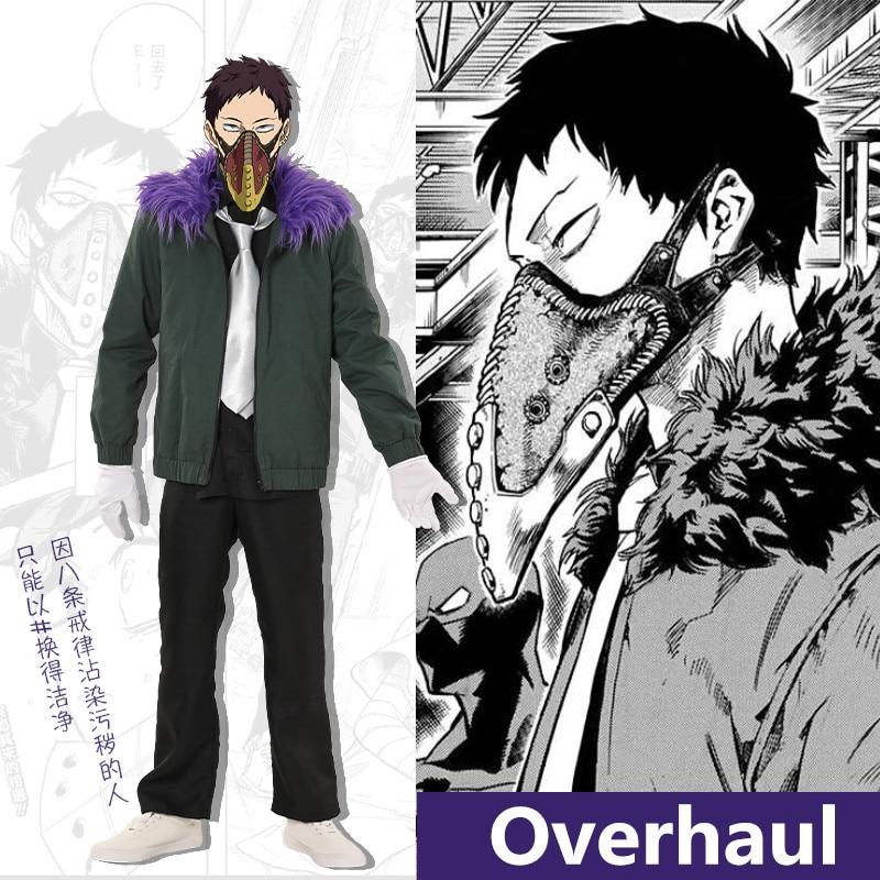 New Anime My Hero Academia Overhaul Cosplay Costumes 1:1Reduction Coat+T-shirt+Pants+Tie Hoodies Sweatshirt Party Halloween Suit