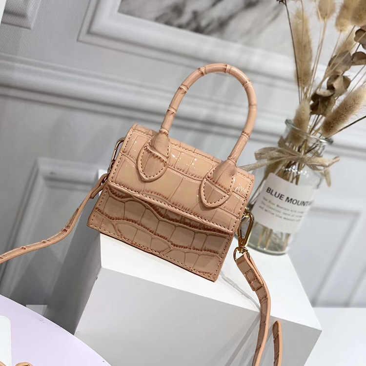 Mini mała torba kwadratowa 2020 moda nowa jakość PU skóra damska torebka krokodyl wzór łańcucha torby listonoszki