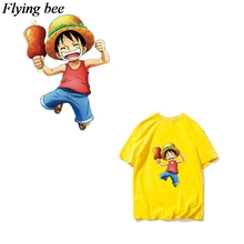 Flyingbee Anime boy Heat Transfer Patches Anime Iron-on Patches For Clothing T-shirt Heat Press Sticker X0669 flyingbee diy heat transfer patches weird thing iron on patches for clothing t shirt decoration heat press appliqued x0657
