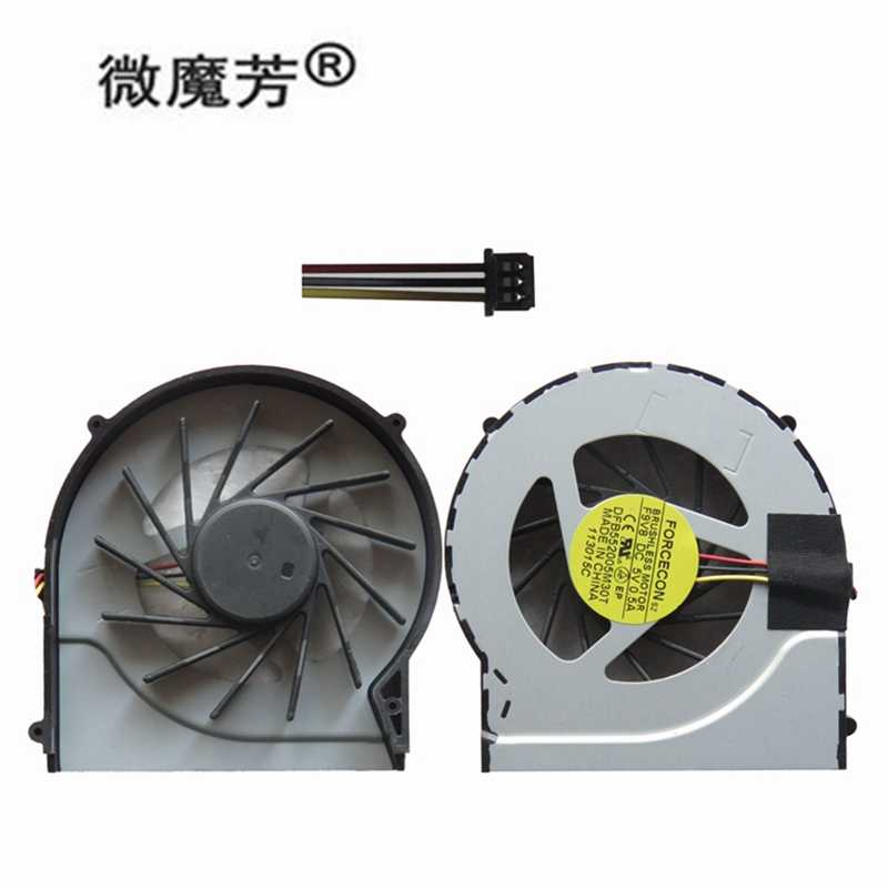 New Laptop CPU Cooling Fan untuk HP Pavilion DV7-4000 DV6-3000 DV6 Notebook Komputer Cpu Pendingin Cooler Processor 3 Baris