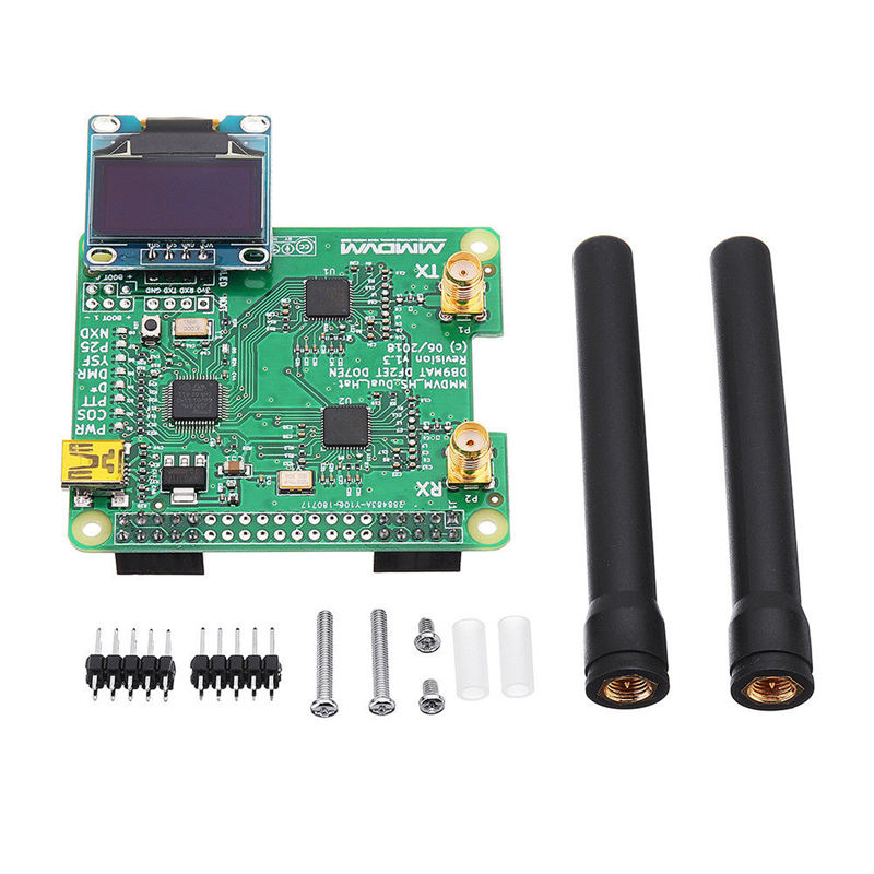 Top <font><b>Duplex</b></font> Mmdvm <font><b>Hotspot</b></font> Oled Usb Support P25 <font><b>Dmr</b></font> Ysf For Raspberry Pi +Dual Antenna image