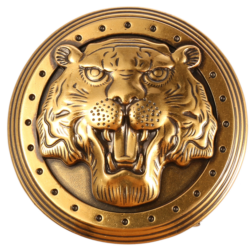 Tiger Head Automatic Belt Buckle For Men Not Contain Body Fashion Suitable For Jeans Width 3.5cm Leather Waist Tape Accessories