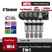 مستشعر AUTEL MX 433 315 TPMS Mx الاستشعار أدوات إصلاح الإطارات ملحقات السيارات مراقبة ضغط الإطارات MaxiTPMS وسادة مبرمج