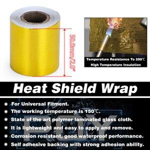 Image 3 - EINE Gold 2 Hitzeschild Band Air Intake Wärmedämmung Schild Wrap Reflektierende Wärme Barriere Selbstklebende Motor 2 Zoll 5/10M