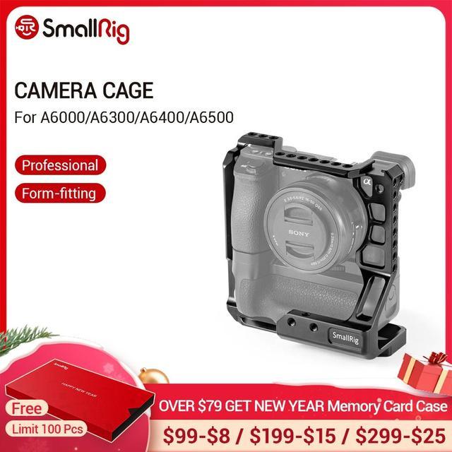 Smallrigデジタル一眼レフカメラソニーA6000/A6300/A6500 マイクスとMK A6300/A6500 カメラバッテリーグリップケージキット 2268