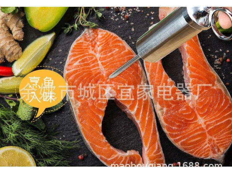 Маринад инжектор приправа игла огонь Джи Чжэнь приправа шприцы кулинарный шприц 20Z Meats инжектор 3 иглы