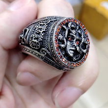 2020 Silver Stone Fashion Men's Jewelry Creative Design Gothic Punk Vintage Male Punk Hip hop Snake Band Biker for Mens Ring soqmo solid 925 silver skull pendant for biker man cool snake budda sculpture mens vintage gothic punk pendants jewelry sqm023