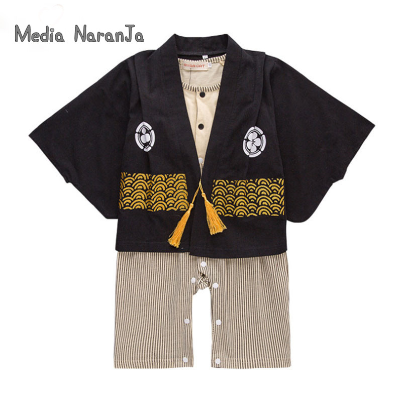 Kids Japanese Kimono Style Baby Girls Boys  Types toddler Infant Cotton Kimono Boys Jumpsuit Clothes