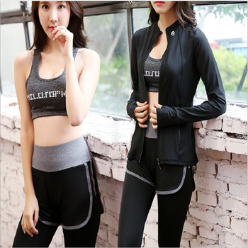 Damdos New Autumn/Winter Yoga Suit Women's Fashion Breathable Speed-Dry Fitness Suit Three-Piece Running Casual Suit