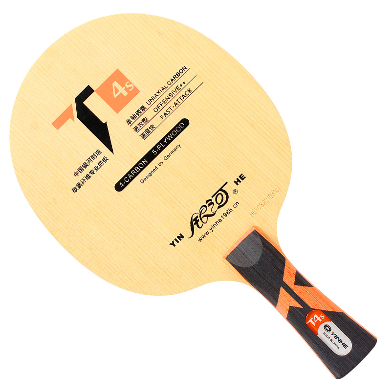Genuine Yinhe / Galaxy T-4S Table Tennis Blade (5 Wood + 4 Uniaxial Carbon) Ping Pong Racket Base Raquete