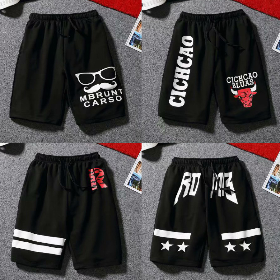 2018 New Style Sports Shorts Male Summer Popular Brand Casual Korean-style Printed Shorts Elastic With Drawstring Sweatpants Cas