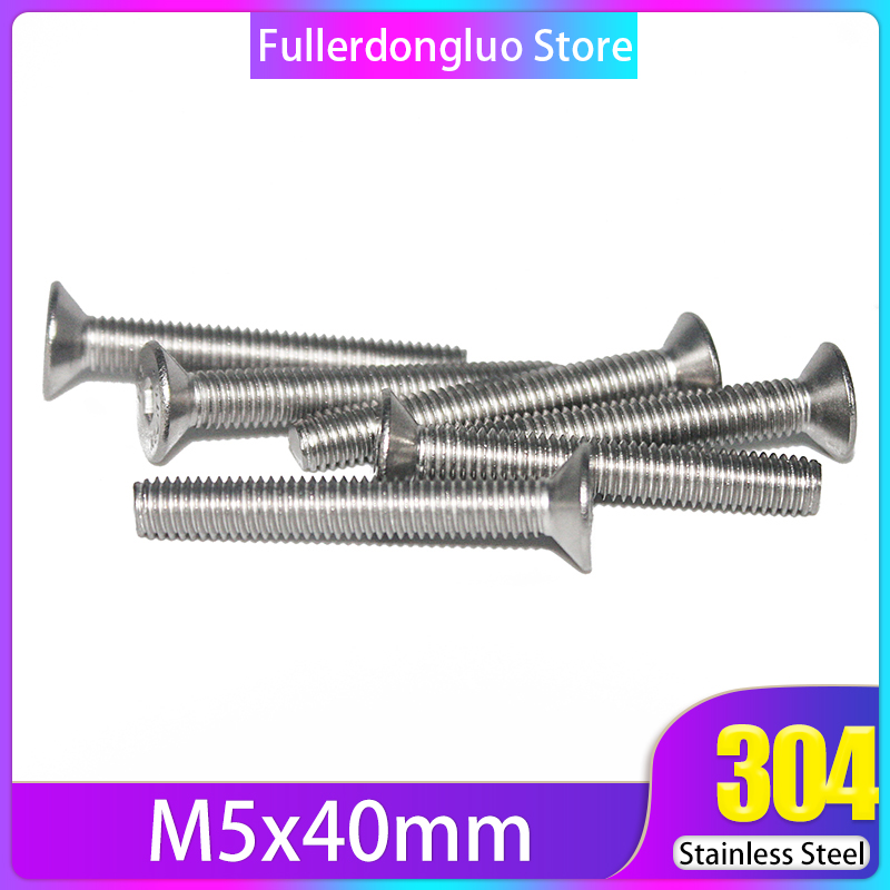 M5 5mm M5 x 0.8 DIN7991 Stainless Steel FLAT HEAD Socket Screws Bolt Countersunk