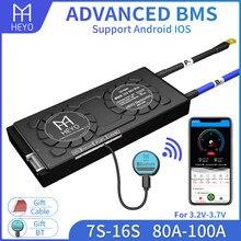 Smart UART RS485 CAN Bluetooth 12V 24V 36V 48V Battery Balancer Board 8s 10s 13s 14s 16s Liion LiFePO4 30A 40A 80A 100A 200A BMS