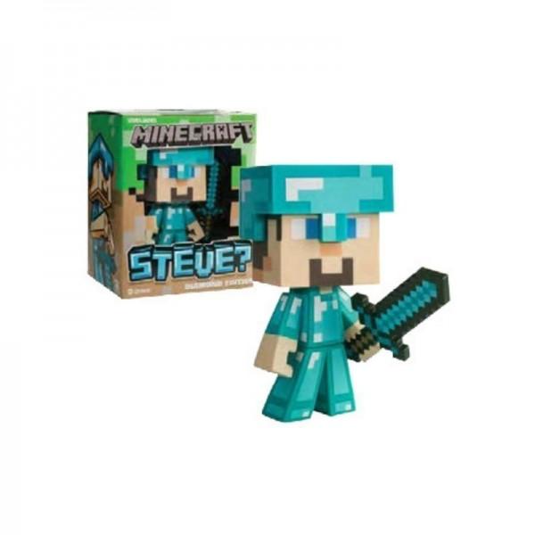 Figura Vinilo Minecraft Diamond Steve