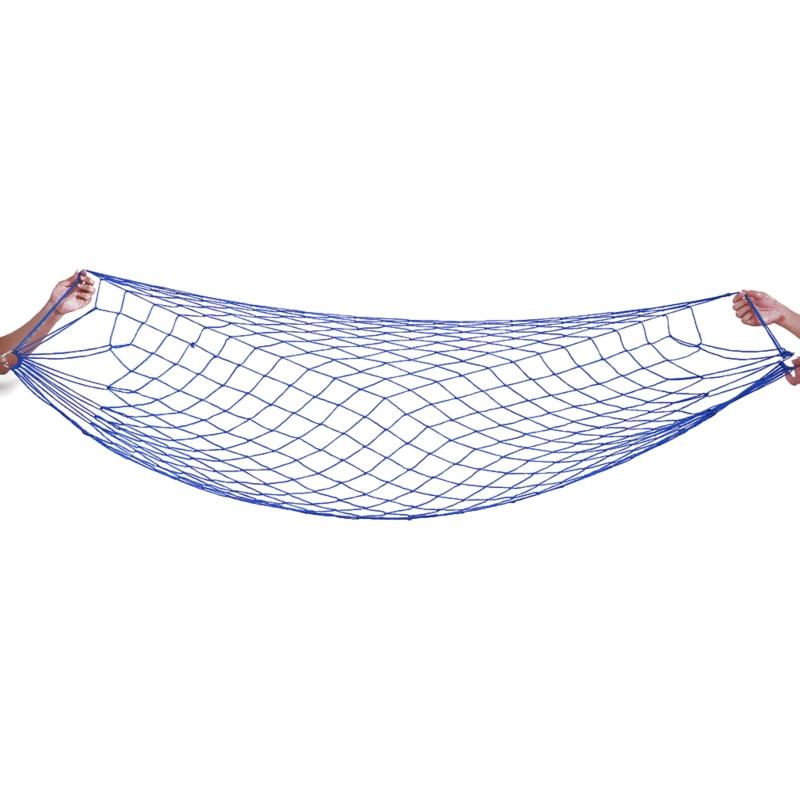 Portable Garden Nylon Swing Hang Mesh Net Sleeping Bed Hammock For Outdoor Travel Camping Hamac Blue Green
