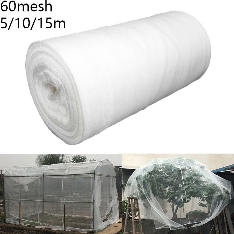 Rede protetora da estufa 60 malha de frutas vegetais cuidados cobertura inseto net planta cobre net jardim controle de pragas anti-pássaro malha net