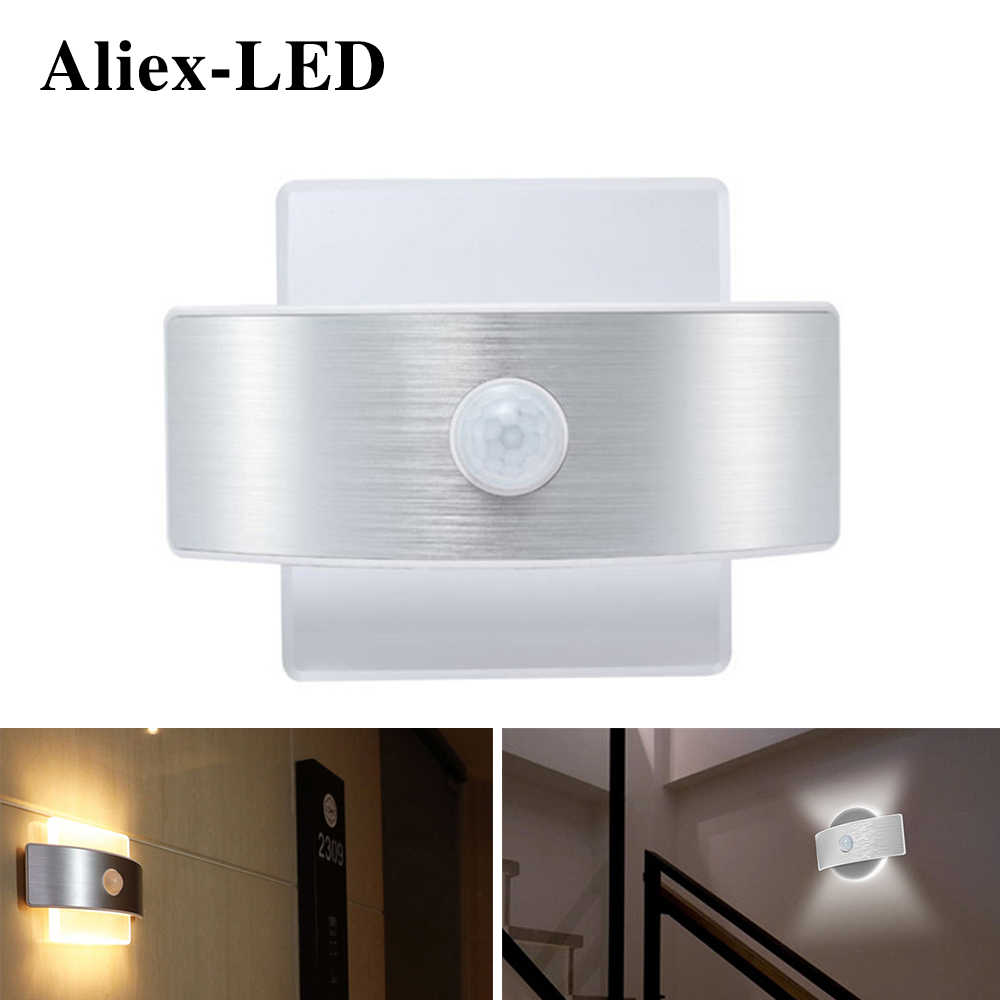 rechargeable led night light pir motion sensor lamp bedroom decor lights wireless infrared wall lamps creative decorative lamp