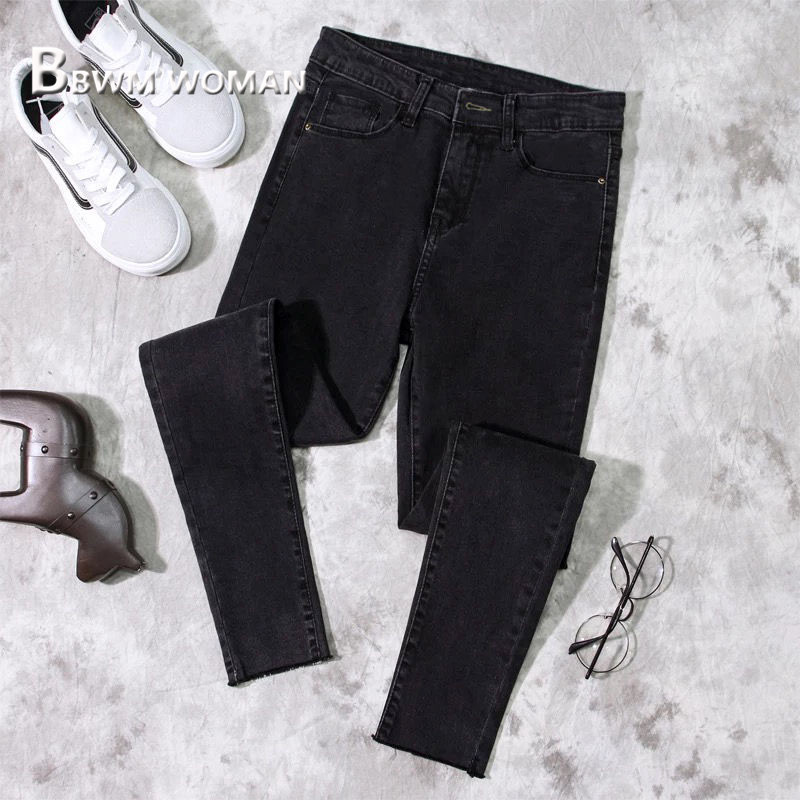 2019 Spring Slim Tight Women Jeans 3 Color Can Choose Female Trousers Pants 2