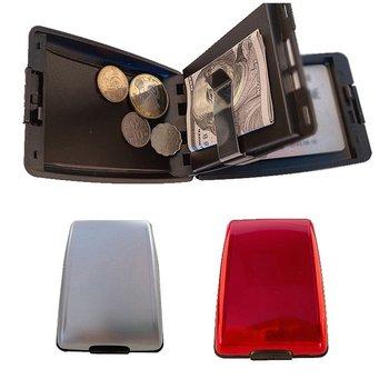 Nowy 2020 RFID portfel ze stopu aluminium wielofunkcyjny etui na karty aluminiowe etui na karty bankowe etui na karty moda portfel Bank karty etui na wizytówki etui na karty tanie i dobre opinie Convenient lock catch