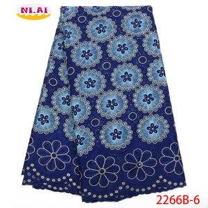 Image 5 - Hot Sale Vải Ren Cotton Phối Ren Cao Fabr Hành Tây Nigeria Vải Ren Châu Phi Váy Đầm Cho Nữ NA2266B 2