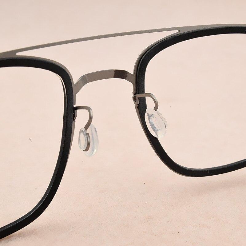 Image 3 - 2019 fashion brand Square eyeglasses Women's titanium glasses frame men optical glasses frame women spectacle frames Men's 9708-in Men's Eyewear Frames from Apparel Accessories