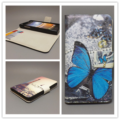 New Ultra thin Flower Flag vintage Flip Cover For <font><b>Sony</b></font> <font><b>Xperia</b></font> <font><b>E1</b></font> <font><b>D2005</b></font> D2105 D2114 Cellphone Case ,Free shipping image