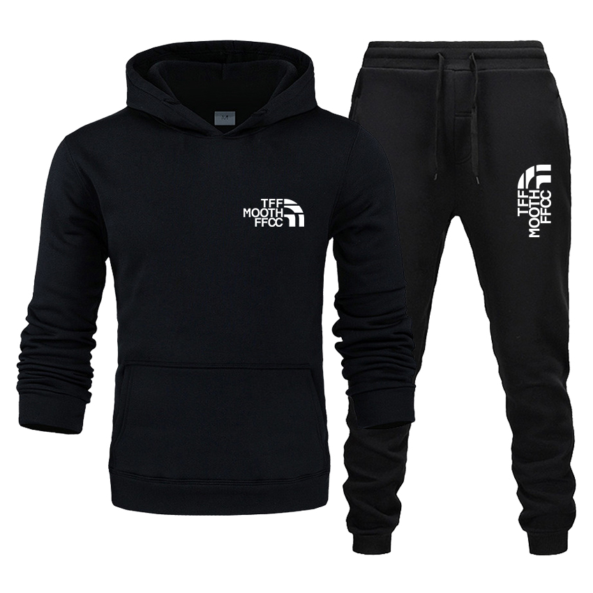 Men's Women's Casual Sportswear Fleece Hoodie And Trousers Autumn And Winter Running Track Suit Top And Bottom Suit Sweatshirt