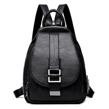 2019 Women Backpack Multifuction Female Backpack Casual School Bag For Teenager Girls High Quality Leather Shoulder Bag For Lady