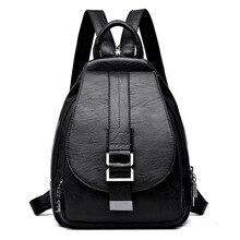 2019 المرأة على ظهره متعددة الوظائف الإناث على ظهره حقيبة مدرسية عادية للفتيات المراهقات عالية الجودة حقيبة كتف جلدية لسيدة