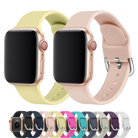 Pasek sportowy dla pasek do apple watch 44mm 40mm 42mm 38mm seria 4/3/2/1 silikonowy pasek do zegarka iwatch pulseira pasek gumowy bransoletka