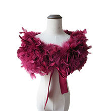 Real 100% Ostrich Feather Fur Wraps Bolero solid Wedding Party Shawl Black white Women Winter Pink Cape Protect shoulder  S72