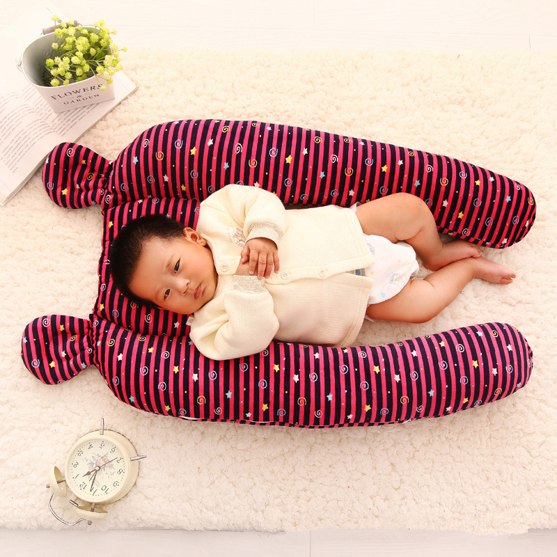 Baby Sleeping Bed Bolster Safety Bumper Fence Baby Sleep Artifact Removable Washable Plush Anti-head Pillow New