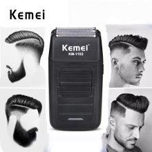Kemei 1102 Shaver Razor For Men Hair Clipper Double Alternative Blade Hair salon Beard Shaver Multifunction Face Care Trimmer