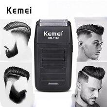 Kemei 1102 tıraş makinesi erkekler jileti saç kesme çift alternatif bıçak saç salon sakal tıraş makinesi çok fonksiyonlu yüz bakım düzeltici