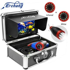 """Image 1 - Erchang 1000TVL Vissen Camera 7 """"Inch 15M Onderwater Camera Voor Vissen 12Pcs Infrarood + 12 Stuks Wit lamp Fishfinder Voor Ijs/Zee"""