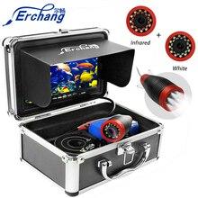 """Erchang 1000TVL caméra de pêche 7 """"pouces 15M caméra sous marine pour la pêche 12 pièces infrarouge + 12 pièces lampe blanche détecteur de poisson pour glace/mer"""