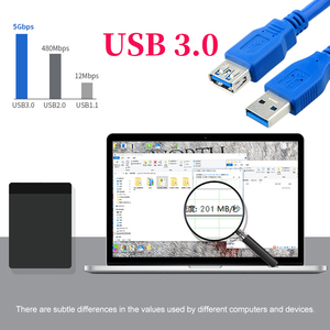 Image 3 - Usb 3.0 macho para fêmea 5gbps cabo linha de extensão do porto computador cabo de dados de transmissão estável de alta velocidade cabo de cobre