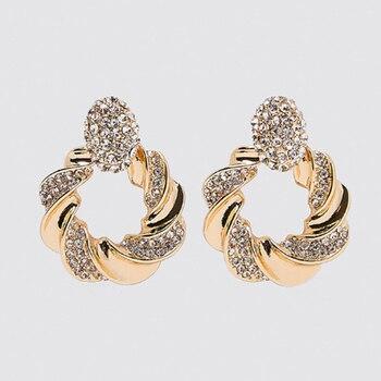 Bestessy 2020 pendientes colgantes de cristal ZA de moda para mujeres de alta calidad dije Maxi pendientes de gota de declaración joyería de Brincos de Navidad