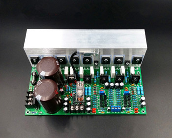 Fully symmetric double difference NJW0302 NJW2081 tube 600W+600W 2.0 stereo amplifier board finished