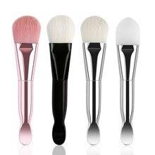 Maquiagem – pinceaux de maquillage à Double extrémité, poils souples, en Silicone, pour masque facial, pour mélanger la boue et les produits cosmétiques de la peau, 1 pièces