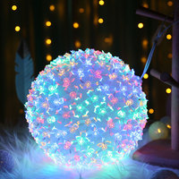 20/30cm LED String Light Waterproof Flower Ball Hanging Lights String Outdoor Wedding Party Home Decoration Holiday Lighting