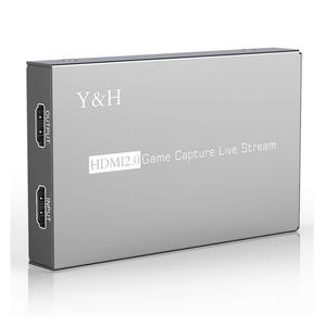 Y&H 4K HDR HDMI2.0 Game Capture Card USB3.0 Video Record and Live Streaming 1080P 60fps with Record Party Chat ezcap269