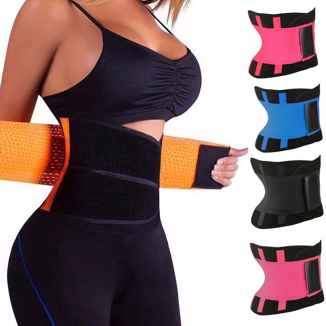 Men Women Sport Waist Belt Tummy Slimming Body Shaper Cincher Zipper Waist Cincher Corset Trainer Sweat Waist Cincher Belt