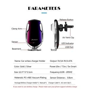 Image 2 - 10W אלחוטי מטען לרכב עבור סמסונג S20 אולטרה בתוספת פשוט מהיר חכם חיישן Wirless מטען עבור iPhone 12 מיני 11 פרו XR XS מקסימום
