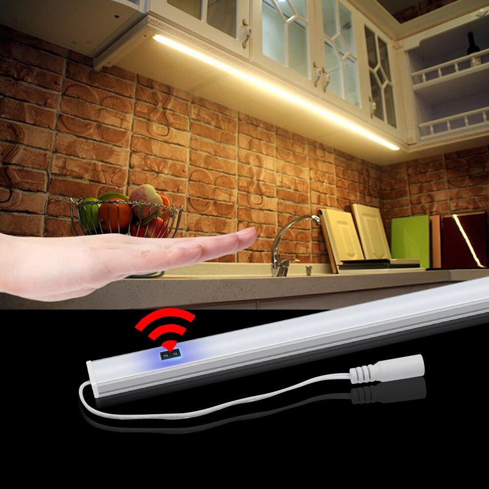 Hand Sweep Switch Motion Sensor LED 12V Bar Light Strips Cabinet Kitchen Light Bedroom Wardrobe Closet Night Lamp 30/40/50cm