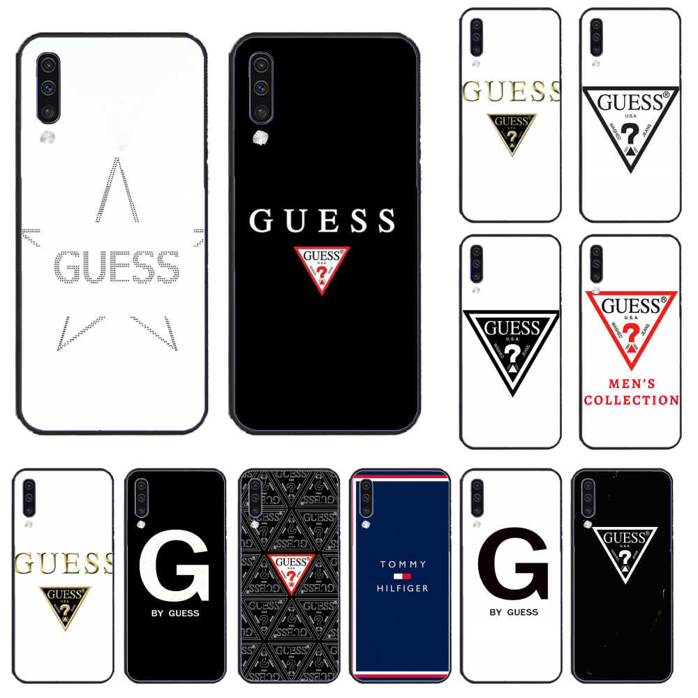 For Samsung A50 Coque Shell Phone Case by guess For Samsung A50 60 70 A6 2018 plus A8 2018 A7 A9 750 920 image