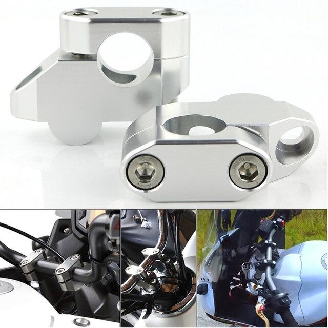 """Dla Kawasaki Versys 650 1000 Versys-X 250 300 KLE500 ER-5 22mm 7/8 """"kierownica motocykla piony rozszerzenie powrót przeniesiony góra Riser"""