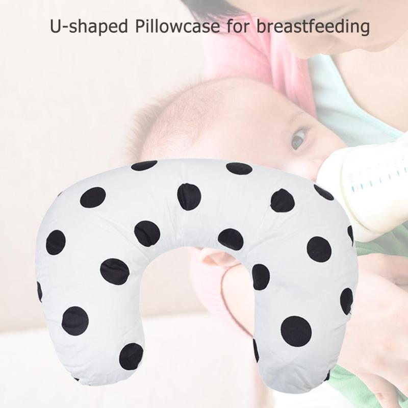 Breastfeeding U Shaped Pillowslip 95% Cotton And 5% Spandex  Multi Function Removable Lovely  For Infant Pillowcase 58x39cm